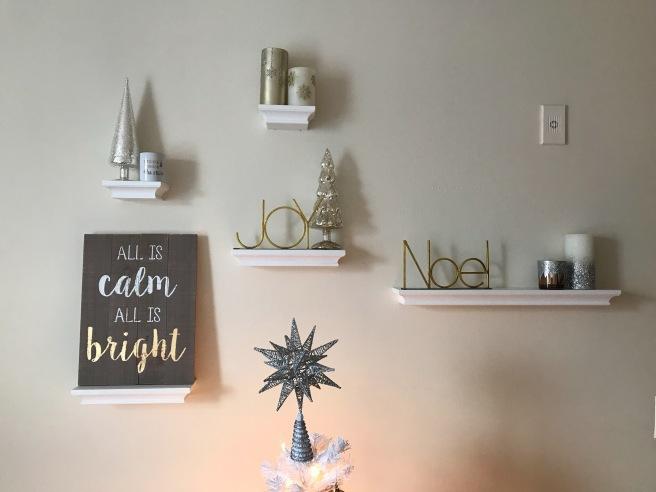 Bedroom Shelves (Christmas)